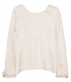 JUST IN - CLOCQUET SILK V NECK TOP