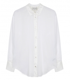 SALES - VOILE SHIRT WITH SILK DETAILS