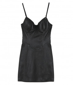 ALEXANDER WANG - STRETCH LEATHER LITTLE BLACK DRESS