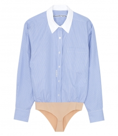ALEXANDER WANG - BUTTON DOWN SHIRT BODY SUIT