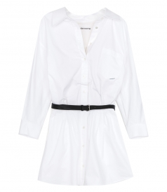 ALEXANDER WANG - MINI SHIRT DRESS WITH BELT