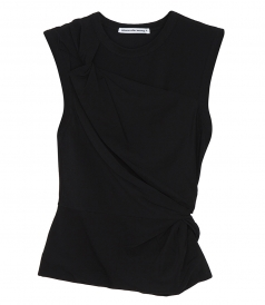 JUST IN - TWISTED CREPE TOP