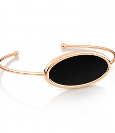 ECLIPSE OPEN ONYX BANGLE