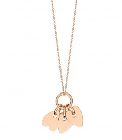 FINE JEWELRY - ANGELE 3 MINI HEARTS ON CHAIN