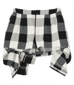 SHORTS - PLAID TIE FRONT SKORT