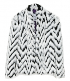 CLOTHES - CHEVRON FUR JACKET
