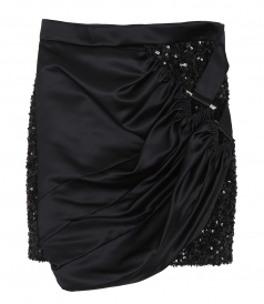 PAILETTES SKIRT WITH TRIANGLE BUCKLE