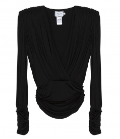CLOTHES - JERSEY DRAPED TOP