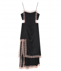 3.1 PHILLIP LIM - SQUARE FROTN SLIP DRESS WITH LACE