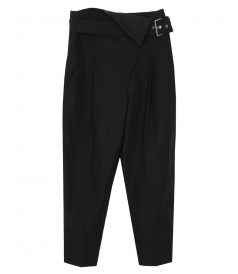CLOTHES - BELTED OVERLAP TROUSERS