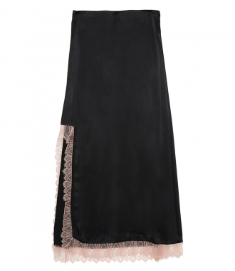 3.1 PHILLIP LIM - SATIN HIGH SLIT SKIRT WITH LACE