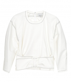 KNITWEAR - LS TWILL PULLOVER WITH BELT