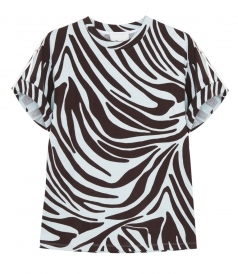 CLOTHES - SS PRINTED ZEBRA T SHIRT