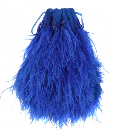 HANDLE - OSTRICH FEATHERS BAG