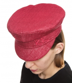 BAKER BOY HAT IN BURGUNDY