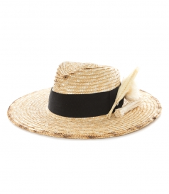 HATS - STRAW FEDORA HAT