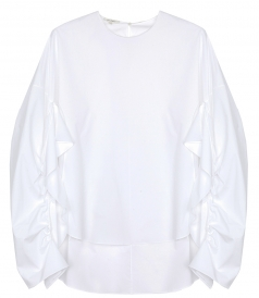 DELPOZO - GATHERED SLV SHIRT
