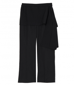 CLOTHES - RIBBED WB SIDE TIE CROPPED PANT