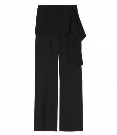 CLOTHES - RIBBED WB SIDE TIE PANT