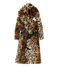 COATS - LEOPARD FAUX COAT