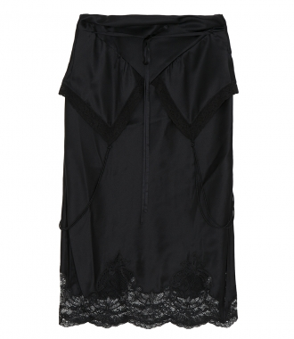 ALEXANDER WANG - TIE FOLD OVER SLIP SKIRT