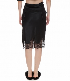 TIE FOLD OVER SLIP SKIRT