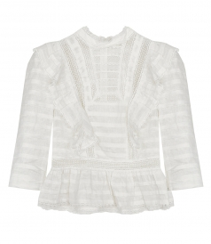 ZIMMERMANN - ALLIA PINTUCK HIGH NECK TOP