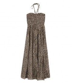 ZIMMERMANN - SURAYS RUCHE LEOPARD DRESS