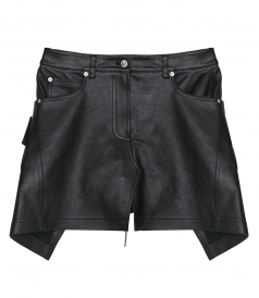 CLOTHES - LEATHER APRON MINISKIRT