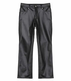 CLOTHES - LATEX TROUSERS WITH DENIM