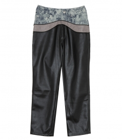 CLOTHES - MOCK LEATHER PANTS