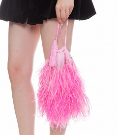 OSTRICH FEATHERS BAG
