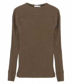 KNITWEAR - COTTON RIB CREWNECK