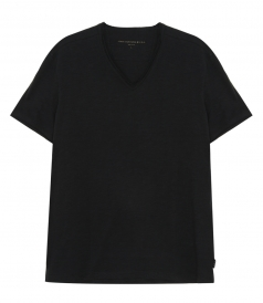T-SHIRTS - SHORT SLEEVE SLUB V NECK