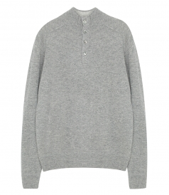 SWEATER - CASHMERE HIGH NECK PULLOVER
