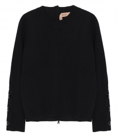KNITWEAR - ZIP-BACK SWEATER