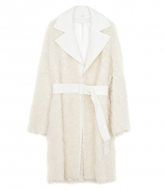 COATS - WOOL FRINGE COAT