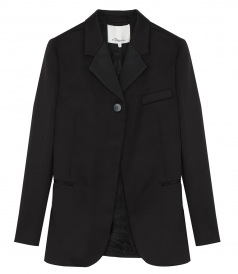CLOTHES - GROSGRAIN-TRIMMED SATIN BLAZER
