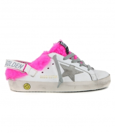 SNEAKERS SUPERSTAR WHITE ICE STAR PINK SHEARLING