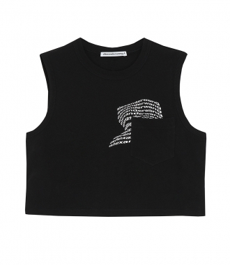 T BY ALEXANDER WANG - CROPPED TANK TOP