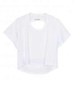CLOTHES - CROPPED CUT-OUT BACK T-SHIRT