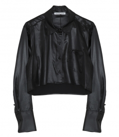 T BY ALEXANDER WANG - WASH + GO WET SHINE BUTTON DOWN