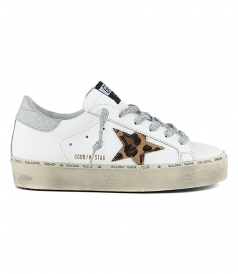SHOES - HI STAR SNEAKERS WITH LEOPARD STAR AND LUREX LACE