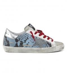 SHOES - LIGHT BLUE PYTHON SUPERSTAR SNEAKERS