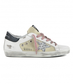 SHOES - BEIGE CANVAS SUPERSTAR SNEAKERS