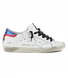 SHOES - WHITE LEATHER SUPERSTAR SNEAKERS