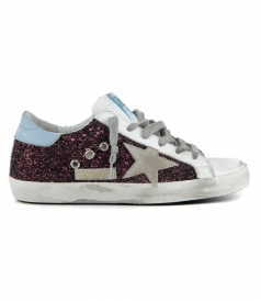 SHOES - WINE GLITTER SUPERSTAR SNEAKERS