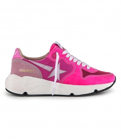 SHOES - FUXIA SUEDE RUNNING SOLE SNEAKERS