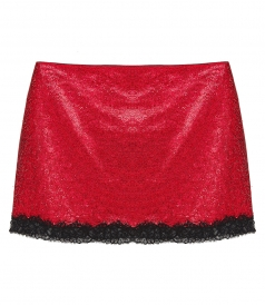 PHILOSOPHY DI LORENZO SERAFINI - CREPE DE CHINE MINISKIRT WITH DIAMANTES
