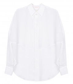 SHIRTS - WHITE SILK SHIRT